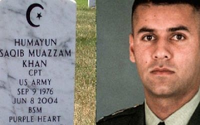 Capt. Humayun Khan, whose parents have spoken out against Donald Trump, was killed in Iraq. (Screenshot from Twitter)