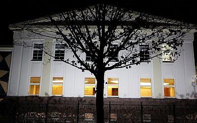 View of the Chabad House in Berlin, Germany. January 29, 2015. (Yaakov Naumi/Flash90)