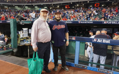 Cleveland Indians fan and Orthodox Jew Daniel Eleff with his grandpa before Game 7 of the World Series. (Instagram)
