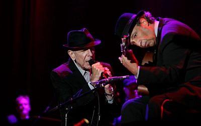 US singer Leonard Cohen during a concert in Ramat Gan September 24, 2009. (Marko / Flash90)