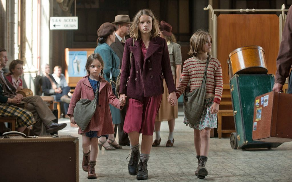 Léonie Souchaud, playing Fanny Ben-Ami, leads other children in the new movie 'Fanny's Journey.' (Courtesy)