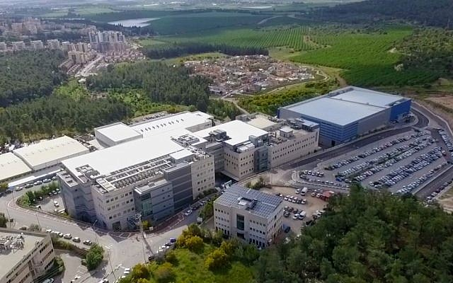 Overhead shot of Flex's Migdal Ha'emek Innovation Center (Courtesy)