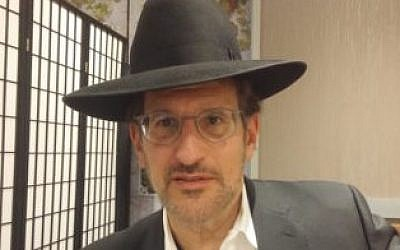 Heshy Friedman, a pro-Trump activist in the Brooklyn neighborhood of Borough Park, says Trump will be the most pro-Israel president ever. (Ben Sales)