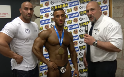 Kobi Ifrach with his medal after winning the Mr. Universe contest on October 30, 2016. (Screenshot: YouTube)