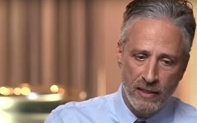 Jon Stewart talks to CBS in an interview aired on November 17, 2016 (screen capture: YouTube)