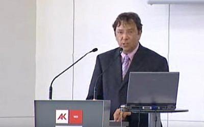 Former Volkswagen historian Manfred Grieger (YouTube screenshot)