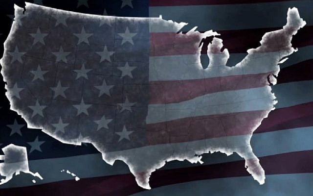 A graphic of the United States of America. (Screenshot/AFP)