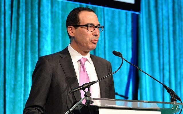 Steven Mnuchin speaking at City Harvest: An Event Of Practical Magic in New York City, April 24, 2014. (Andrew H. Walker/Getty Images for City Harvest)