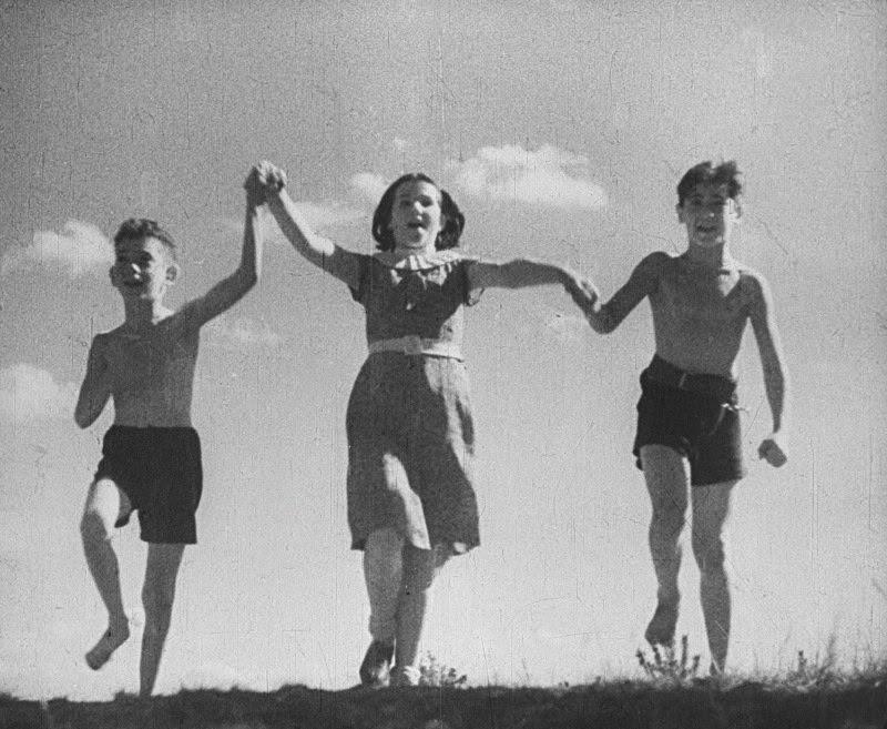 Children running at the Vladimir Medem Sanatorium, where most of the film is shot. (Courtesy Lobster Films)