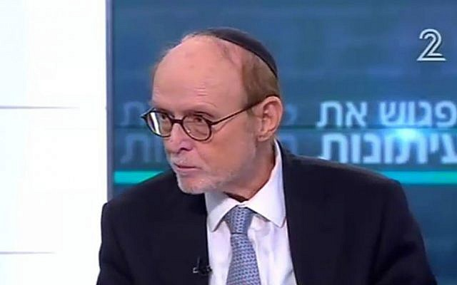 """Attorney Yaakov Weinroth on Channel 2's """"Meet the Press,"""" November 26, 2016. (screen capture)"""