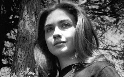 Hillary Rodham at Wellesley College.