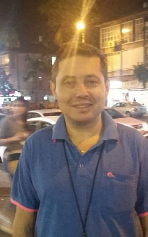 Yevgeny Shpigel in Bat Yam November 9, 2016 (Simona Weinglass/The Times of Israel)