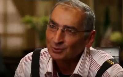 Professor Sadegh Zibakalam in an interview with Hossein Dehbashi, November 13, 2016. (Screen capture: YouTube)