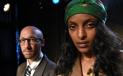 From 'Refugees,' the latest play from Moshe Malka's Ethiopian-Israeli theater, premiering at the Hullageb Festival, December 15-21, 2016 (Courtesy Moshe Malka)