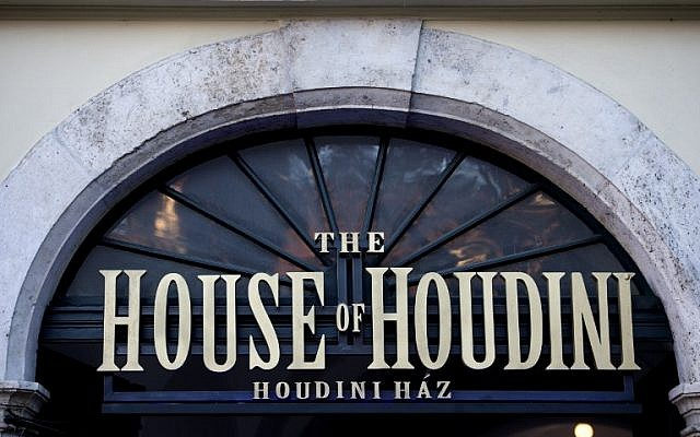 """The main entrance of the """"House of Houdini"""" museum, in Budapest, December 2, 2016. (AFP/ATTILA KISBENEDEK)"""