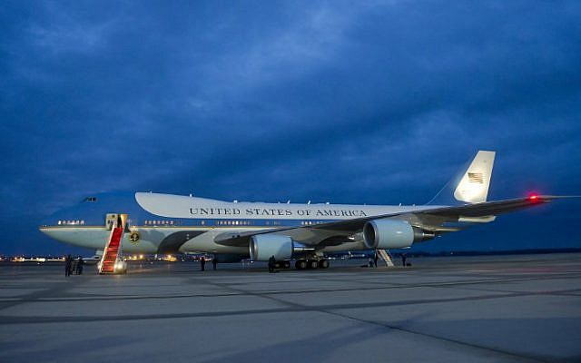 Air Force One seen on the tarmac at Andrews Air Force Base in Maryland, December 10, 2012. (Saul Loeb/AFP)