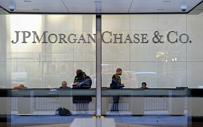 The headquarters of JP Morgan Chase on Park Avenue in New York on December 12, 2013. (AFP PHOTO / Stan HONDA)