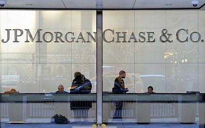 This file photo taken on December 12, 2013 shows the headquarters of JP Morgan Chase on Park Avenue in New York. (AFP Photo/Stan Honda)