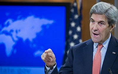 US Secretary of State John Kerry delivers remarks on the fighting in Syria on December 15, 2016 at the State Department in Washington, DC. (AFP Photo/Paul J. Richards)