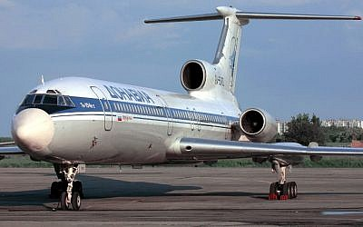 This file photo taken on January 2, 2001 shows a Tupolev-154 (TU-154) aircraft.  A Russian military Tu-154 plane crashed on December 25, 2016 in the Black Sea as it made its way to Syria with 91 people on board ( AFP PHOTO / Alexander NEMENOV)