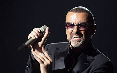 This file photo taken on September 9, 2012 shows British singer George Michael performing on stage during a charity gala for the benefit of Sidaction, at the Opera Garnier in Paris.(AFP PHOTO / MIGUEL MEDINA)