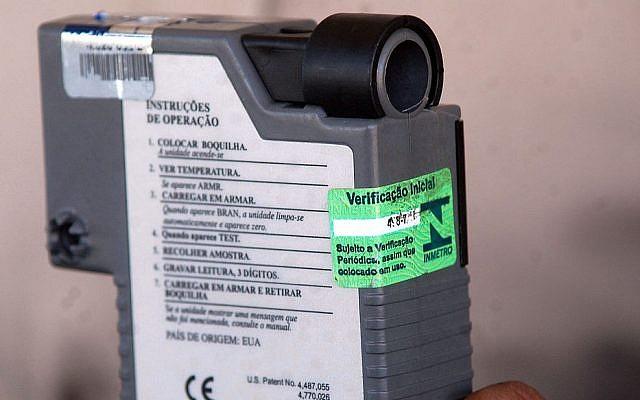 A police-grade breathalyzer (CC BY 3 Elza Fiúza/ABr/Wikipedia)