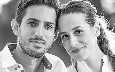 Adam Krief with his wife, Lia (Facebook)