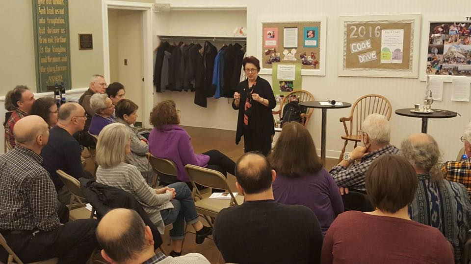 Rabbi Miriam Jerris and Congregation for Humanistic Judaism of Fairfield, CT discuss the origins and the state of the Secular Humanistic Jewish Movement, Saturday, October 22, 2016. (Courtesy)
