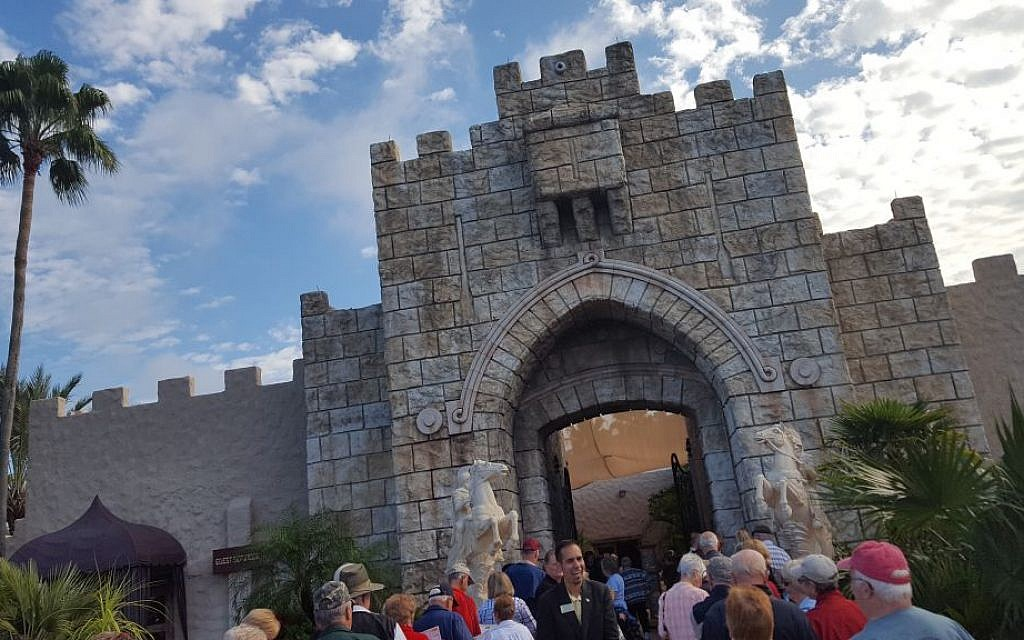 Holy Land Experience in Orlando, Florida, a Bible-themed Christian tourist attraction on December 8, 2016 (Matt Lebovic/The Times of Israel)