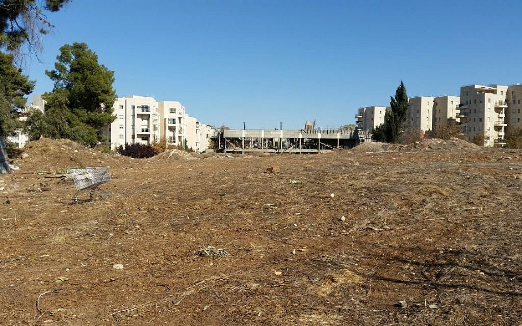 The Jerusalem site formerly known as the Allenby Barracks, a possible location of the US Embassy (Raphael Ahren/TOI)