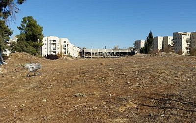 The Jerusalem site formerly known as the Allenby Barracks in late 2016 (Raphael Ahren/TOI)