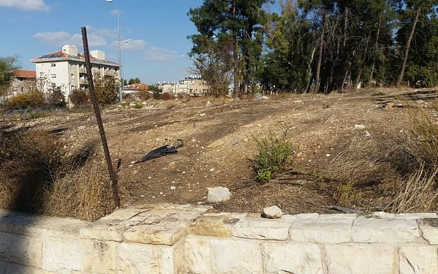 The Jerusalem site formerly known as the Allenby Barracks, a planned location of the US Embassy (Raphael Ahren/Times of Israel)