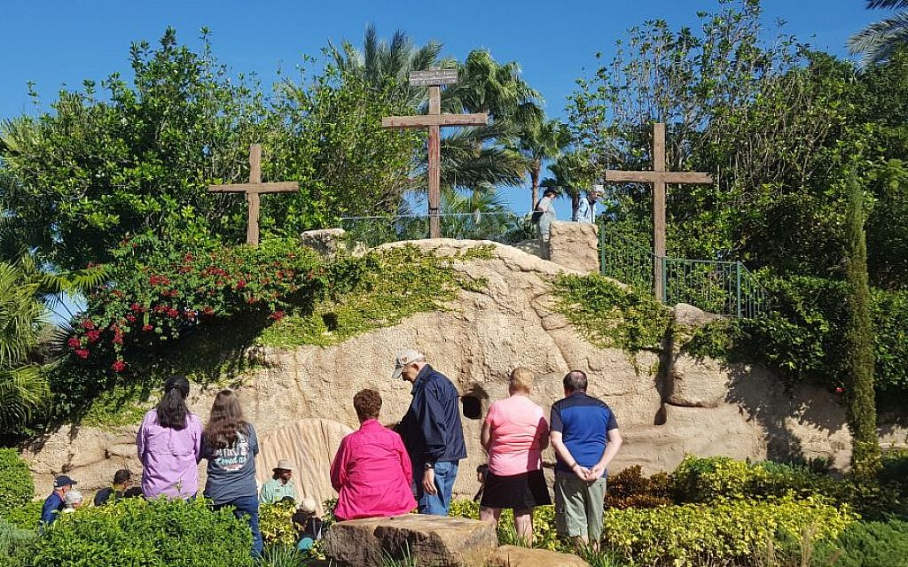 Holy Land Experience in Orlando, Florida, a Bible-themed Christian tourist attraction on December 8, 2016. Visitors learn about Jerusalem during the time of Jesus. (Matt Lebovic/The Times of Israel)