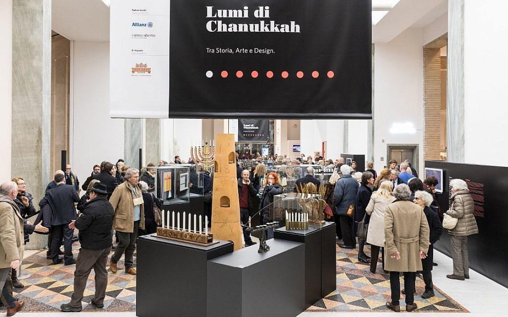 The 'Hanukkah Lights: History, Art and Design' exhibit at the Triennale in Milan. (Gianluca Di Ioia/ La Triennale di Milano)
