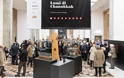 The 'Hanukkah Lights: History, Art and Design' exhibit at the Triennale in Milan. (Gianluca Di Ioia/ La Triennale di Milano)