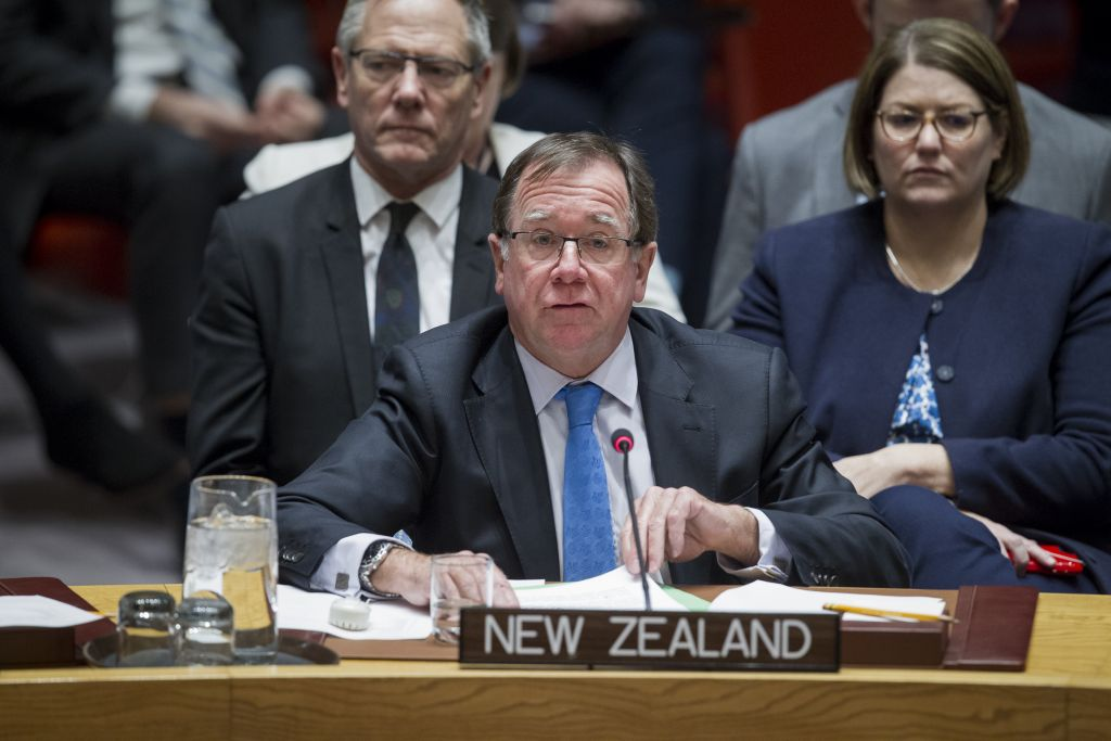 New Zealand Foreign Minister Murray McCully addresses the Security Council meeting on the situation in the Middle East on December 16, 2016. (UN/Manuel Elias)