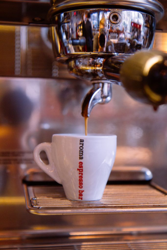 An espresso from Aroma. (Brandon Gray)