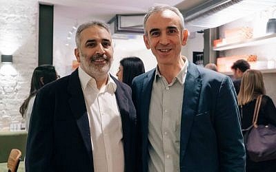 Adrian Daniel, left, and Michael Daniel, co-owners of The Gate restaurants in London. (Courtesy)