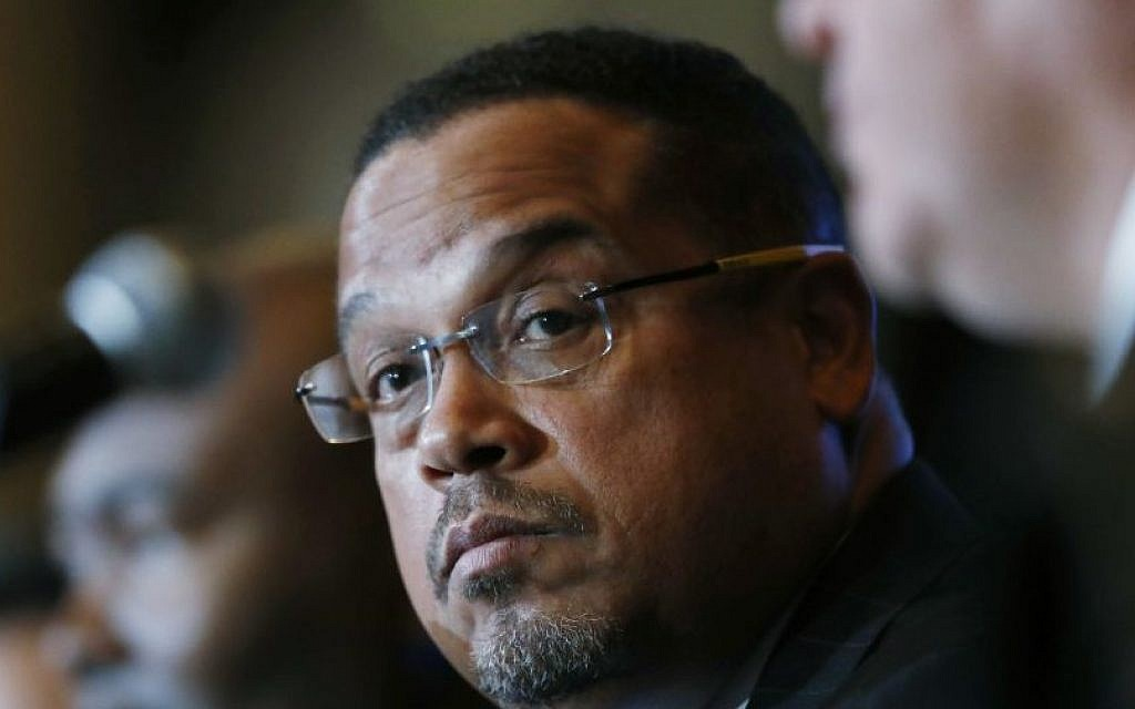 US Rep. Keith Ellison (D-Minnesota) at a meeting of the Democratic National Committee on Friday, Dec. 2, 2016, in Denver, Colorado. (AP Photo/David Zalubowski)