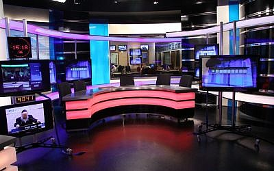 A view of the television studios of the Knesset Channel, at the Knesset, Jan 19, 2011. (Isaac Harari/FLASH90)