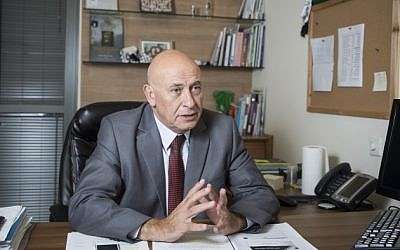Joint (Arab) List member Basel Ghattas at his office at the Knesset in Jerusalem, on November 3, 2015. (Hadas Parush/Flash90)