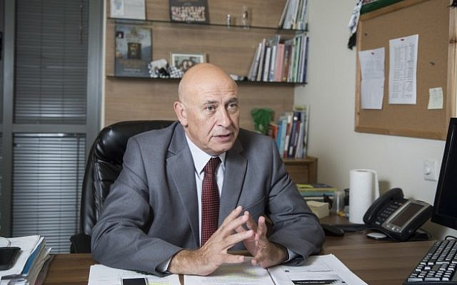Joint (Arab) List MK Basel Ghattas in his office at the Knesset in Jerusalem, on November 3, 2015 (Hadas Parush/Flash90)
