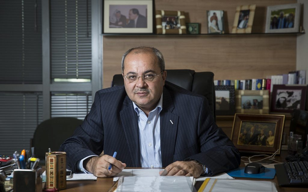 MK Ahmad Tibi at his office at the Knesset in Jerusalem, on November 3, 2015. (Hadas Parush/Flash90)