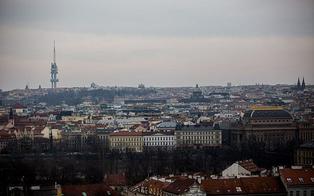 View of Prague, Czech Republic, on March 5, 2016 (Noam Revkin Fenton/Flash90)
