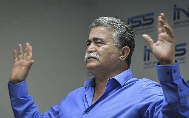 Former defense minister Amir Peretz speaks during a conference marking the 10th anniversary since the Second Lebanon War, on July 14, 2016. (Flash90)