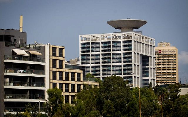 The Defense Ministry building in Tel Aviv, August 29, 2016. (Miriam Alster/Flash90)