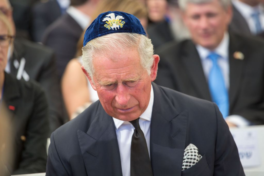 Prince Charles seen during the funeral late former President Shimon Peres at Mount Herzl in Jerusalem