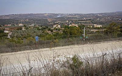 View of Lebanon as seen from the Israeli side of the border, November 10, 2016. (Doron Horowitz/FLASH90)