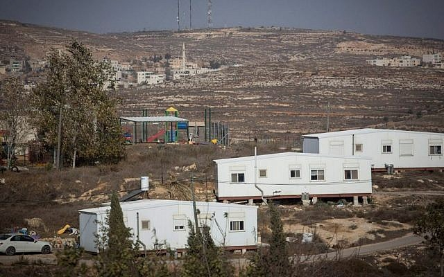 View of the Amona outpost in the West Bank, on November 28, 2016. (Hadas Parush/Flash90)