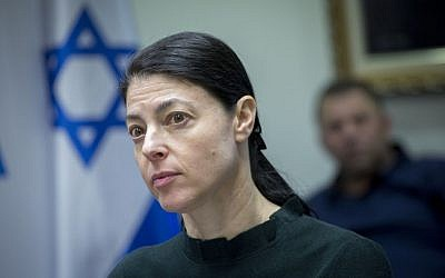 Zionist Union parliament member Merav Michaeli attending a faction meeting in the Knesset, December 5, 2016. (Miriam Alster/Flash90)